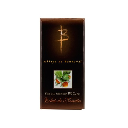 Chocolat noir 50% cacao - Éclats de noisettes