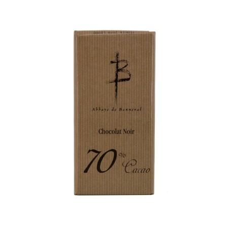 Chocolat noir 70% cacao - Abbaye de Bonneval