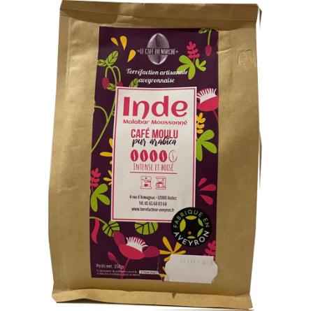 Café moulu pur arabica INDE intense et boisé