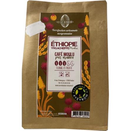 Café moulu pur arabica ETHIOPIE floral et fruité