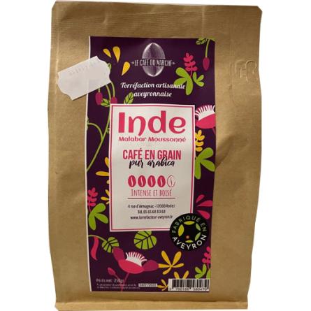 Café en grain pur arabica INDE intense et boisé