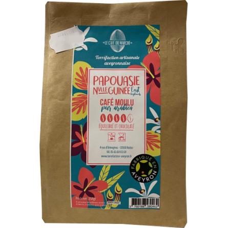 Café moulu pur arabica PAPOUASIE NVLLE GUINEE équilibré et chocolaté