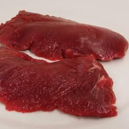 Steak pièce de boeuf en morceaux